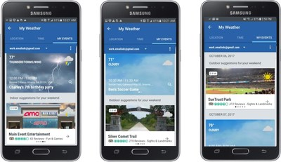 The Weather Channel Made for Samsung App with TripAdvisor