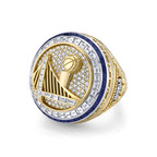The Golden State Warriors 2017 Championship ring designed and manufactured by Jason of Beverly Hills.