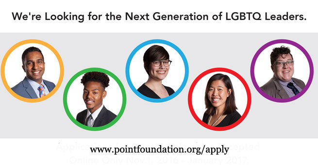 Apply for Point Foundation scholarships