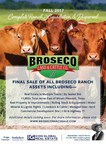 """Legendary 50-year-old North Texas Cattle and Recreational Ranch """"BROSECO"""" to be Liquidated by Subdivision and Sealed Bid Process"""
