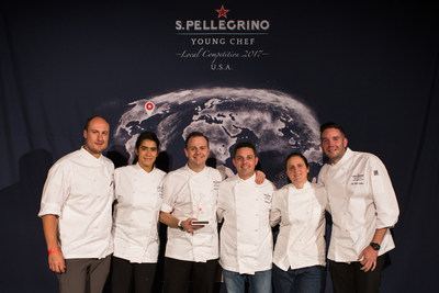 S.Pellegrino® Sparkling Natural Mineral Water announced that Chef John Taube IV of The NoMad Hotel won the S.Pellegrino Young Chef U.S. regional competition in New York, NY on October 17, 2017. The winner was chosen by a Jury Panel of acclaimed culinary judges including Dave Beran, Daniela Soto-Innes, Gavin Kaysen, April Bloomfield, and Mitch Lienhard (Photo Credit: Patrick MacLeod for S.Pellegrino).