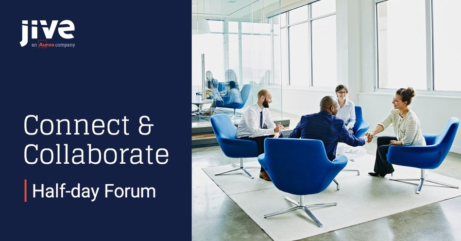 Jive Software, an Aurea company, will host the Connect and Collaborate Forum on 1 November 2017 in London, where attendees will explore the role of collaboration in digital transformation.