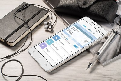 RoamNow! app on the Alcatel A3 XL