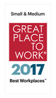Great Place to Work® and FORTUNE Name Advisors Excel One of 2017's Best Small & Medium Workplaces
