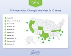 Which U.S. Cities Have Changed the Most Over the Past Decade?