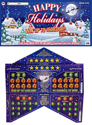 Missouri Lottery Happy Holidays Scratchers With Pop 'n' Play™ (CNW Group/Pollard Banknote Limited)