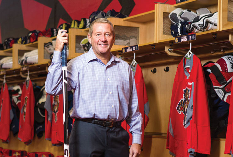 Peter Luukko, CHP, Executive Chairman of the Florida Panthers, NHL Board of Governors, and Co-Chairman of the Arena Alliance, a subsidiary of Oak View Group. (CNW Group/Business of Hockey Institute)