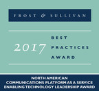 Frost & Sullivan recognizes Zilkr with the 2017 Enabling Technology Leadership Award. (PRNewsfoto/Frost & Sullivan)