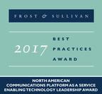 Frost & Sullivan recognizes Zilkr with the 2017 Enabling Technology Leadership Award. (PRNewsfoto/Frost & Sullivan)