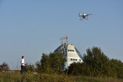 Christian Esser from AllTerra Süd Deutschland GmbH, using the Microdrones mdMapper1000DG