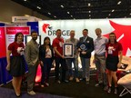 Representatives from Edico Genome, the Children's Hospital of Philadelphia and Amazon Web Services with the Guinness World Record title for Fastest time to analyze 1,000 human genomes.
