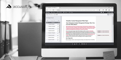 PrizmDoc Document Comparison (PRNewsfoto/Accusoft)