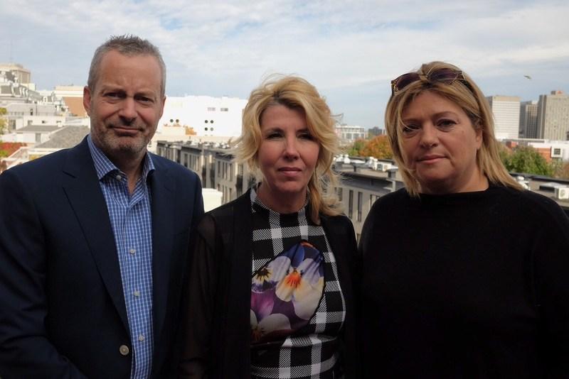 De gauche a droite : Bruce Hills, Guylaine Lalonde et Lucie Rozon. (Groupe CNW/Juste pour Rire)