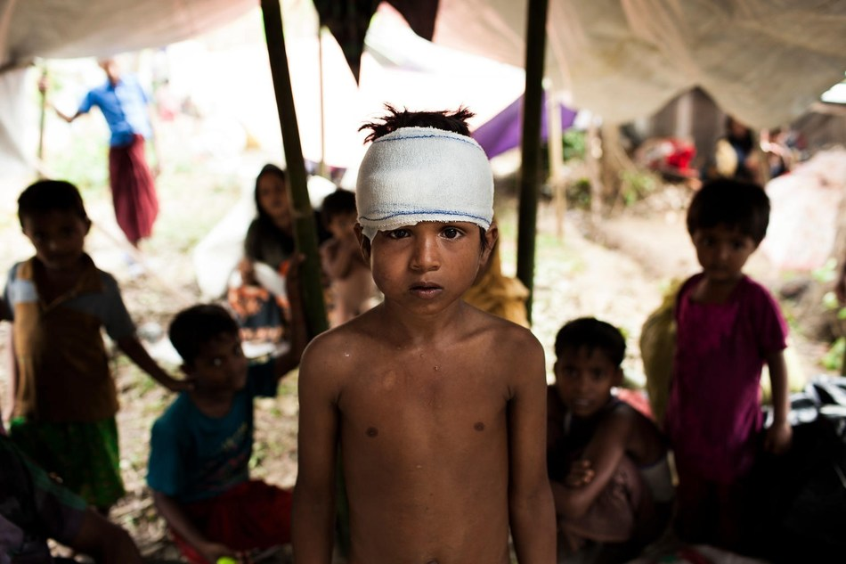 Mohammed Yasin, eight, is amongst the newly arrived Rohingya living in shelters at the Kutupalong makeshift camp in Cox's Bazar. © UNICEF/UN0119119/Brown (CNW Group/UNICEF Canada)