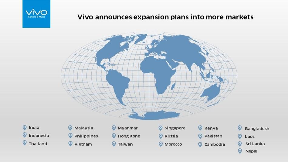 Vivo announces expansion into more markets