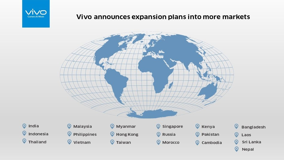 Vivo announces expansion into more markets
