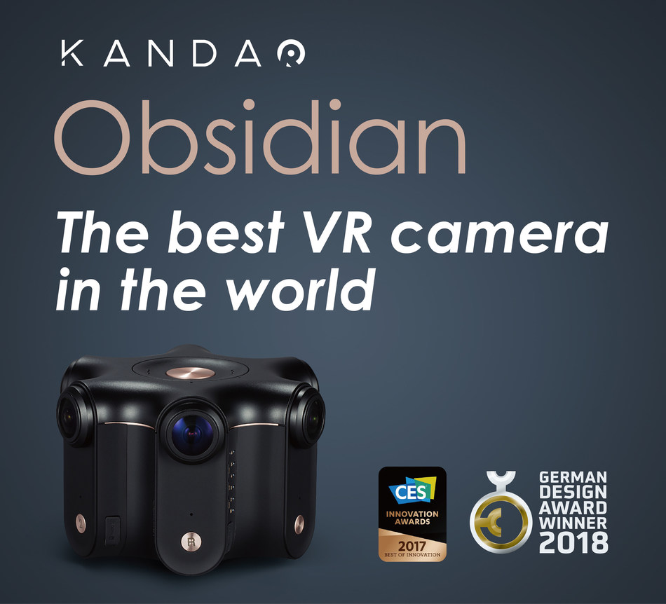 Kandao Obsidian, the high-end 3D VR camera for professional content creators, has been honored as a winner at the German Design Award 2018.