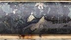 Chalcopyrite-Pyrrhotite-Pentlandite and Magnetite mineralization from drill-hole 17HK-12 at 459m (CNW Group/Northern Shield Resources Inc.)