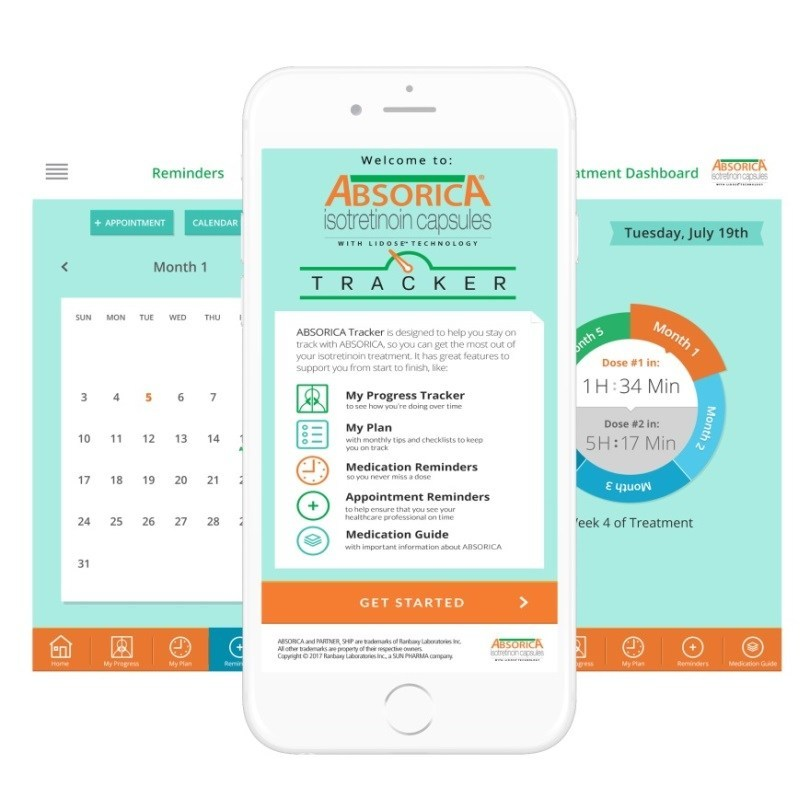 Sun Dermatology Launches ABSORICA® (isotretinoin) Tracker App to Help Patients Track Progress