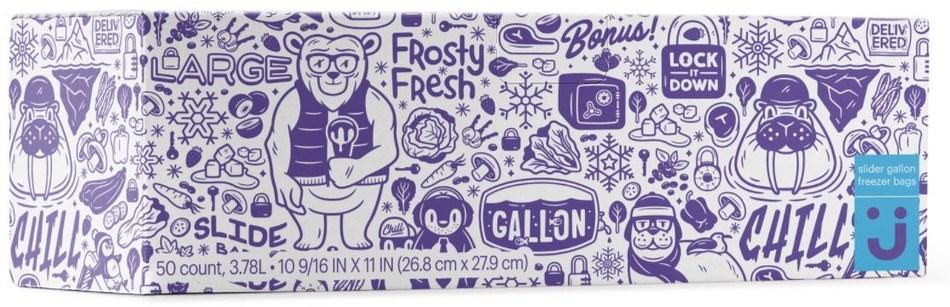 Slider Gallon Freezer Bags 50 count