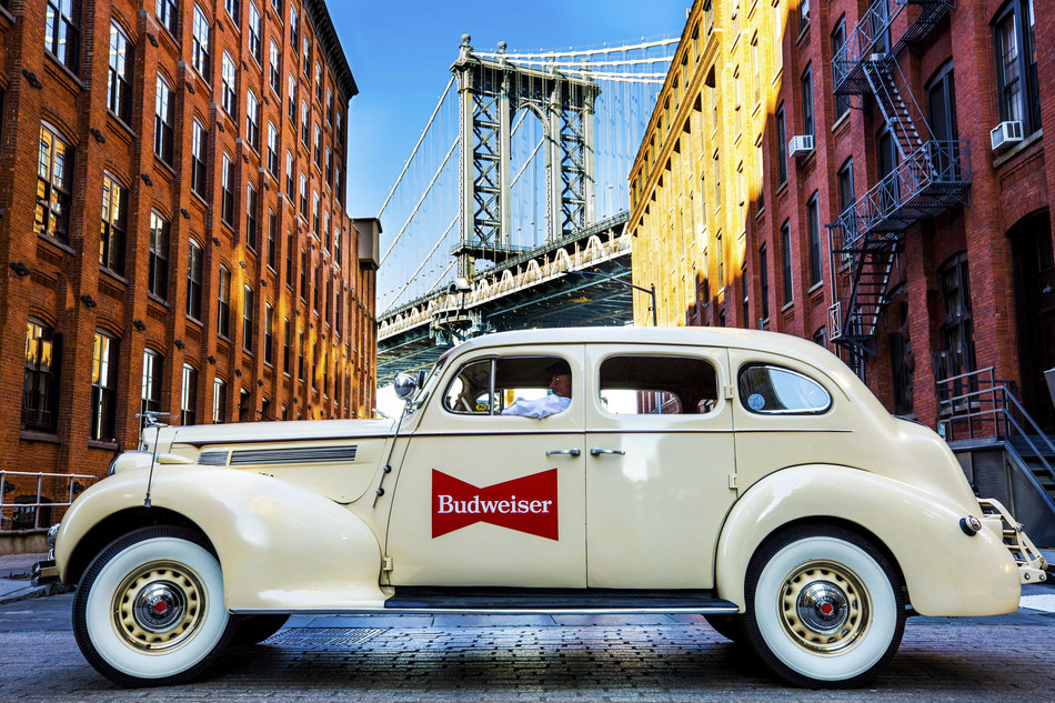 Budweiser is Unveiling a Fleet of Vintage Cars in Manhattan in Partnership with Lyft on Wednesday, October 25