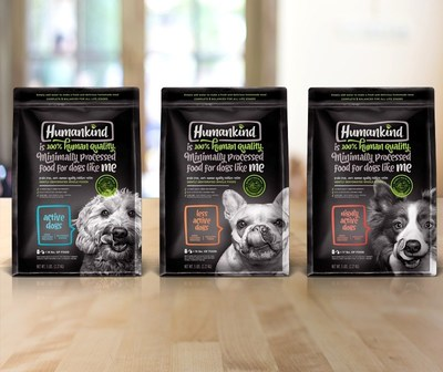 Humankind® 100% Human Quality food for dogs comes in three formulations based on the nutritional requirements based on activity level - Active, Highly Active and Less Active