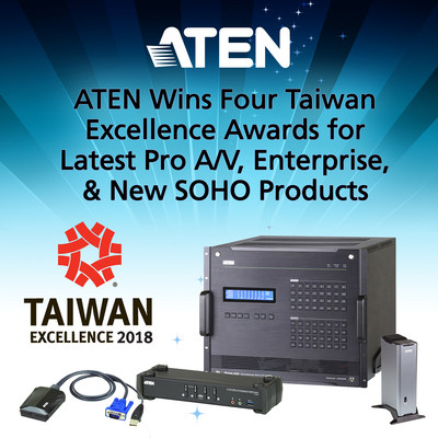 ATEN Wins Four Taiwan Excellence Awards for Latest Pro A/V, Enterprise, & New SOHO Products