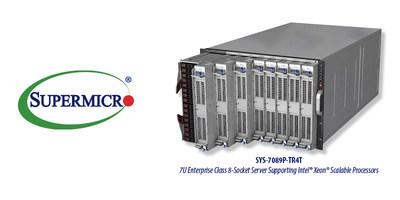 Supermicro lança novo servidor de 8 soquetes com até 224 núcleos Xeon (PRNewsfoto/Super Micro Computer, Inc.)