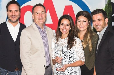 From left to right: Director Business Development CAA National John Ewart, Chief Strategy Officer CAA National Jeff Walker, Marketing Program Specialist The Source Rhoda Brophey, Manager Partner Programs CAA National Megan Schneider, and Managing Director CAA Rewards CAA National Jamie Patterson. (CNW Group/Canadian Automobile Association)