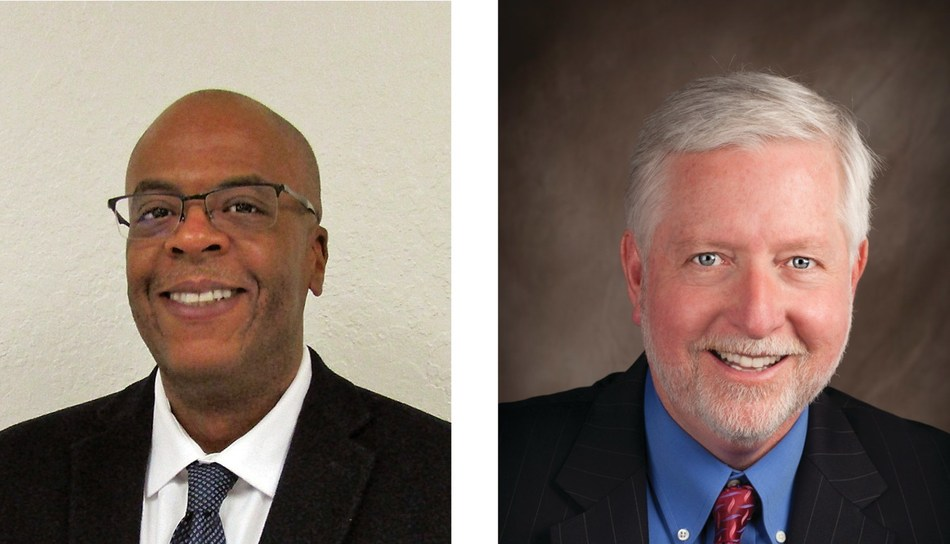 Left:  Mr. Steven Taylor, Vice President, Human Resources (HR); Right: Mr. Christopher (Chris) Conley, Vice President, Safety, Health and Environment (SH&E)