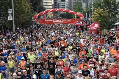 The 28th Scotiabank Toronto Waterfront Marathon took place this weekend. An estimated $3.5 million was raised through the Scotiabank Charity Challenge, supporting nearly 200 local charities. (Photo credit: Todd Fraser) (CNW Group/Scotiabank)