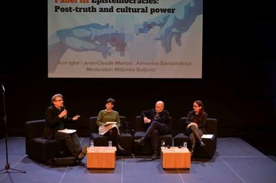FLTR Jean-Claude Monod, Miljenka Buljevicc, Almantas Samalaviccius, Ann Ighe (PRNewsfoto/Eurozine)