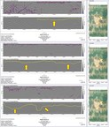 Figure 3: Selection of GPR section profiles with channel positions arrowed. (CNW Group/Meridian Mining S.E.)