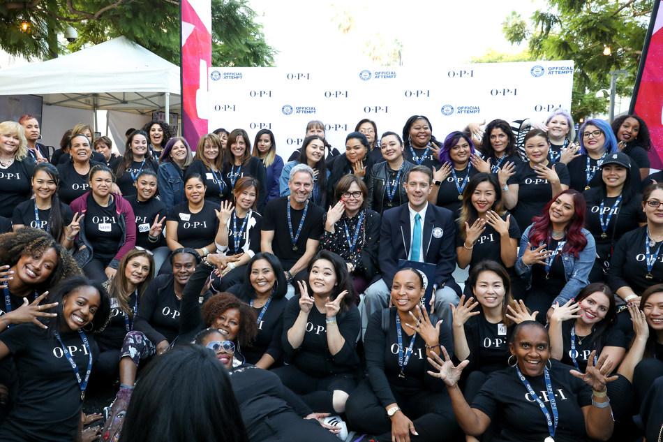 OPI breaks Guinness World Record for Longest Manicure Bar