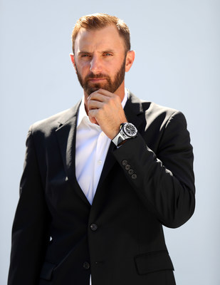 Dustin Johnson with the Hublot Big Bang Unico Golf (PRNewsfoto/Hublot)