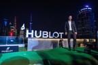 Dustin Johnson at the launch of the Hublot Big Bang Unico Golf, in Shanghai (PRNewsfoto/Hublot)