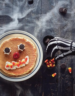 Scary Face Pancakes at IHOP are free to children 12 and under on Halloween, October 31, from 7am-10pm at participating locations.