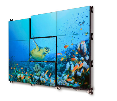 Barco's new UniSee LCD video wall (PRNewsfoto/Barco)