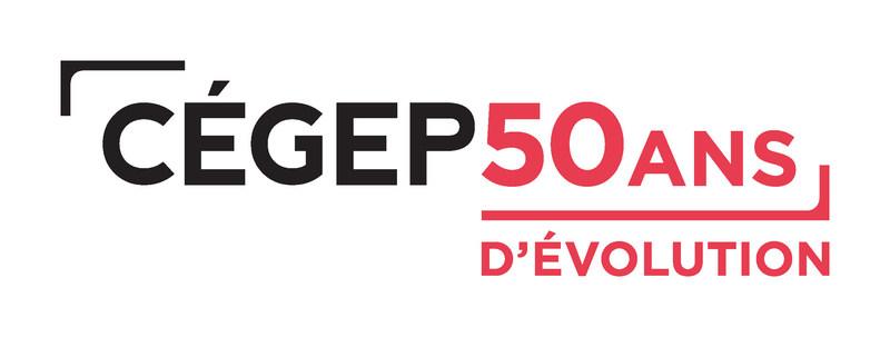 Logo : Fédération des cégeps - 50 ans d'évolution (Groupe CNW/Fédération des cégeps)