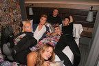 Frankfurt's it-crowd take over East End in 'Hotel Heist' party at Germany's hottest new hotel, Moxy Frankfurt East