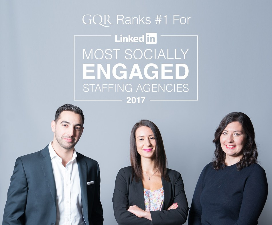 GQR Ranks #1 LinkedIn Most Socially Engaged 2017