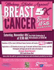 Making Strides Against Breast Cancer Beach Walk and Family Fun Day Announced For November 4