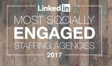 LinkedIn ranks Green Key Resources as one of the most socially engaged staffing agencies in North America.