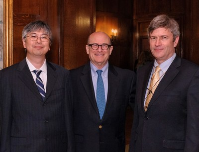 Pisart Award recipient Dr. Yoshikazu Imanishi, Lighthouse Guild President & CEO Dr. Alan R. Morse and Bressler Prize recipient Dr. Russell N. Van Gelder. Photo by: Charles Manley
