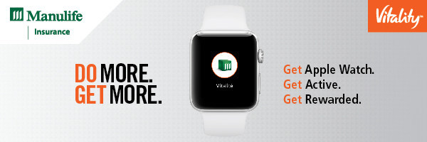 Manulife Vitality program now offering Apple Watch, encouraging members to live a more active lifestyle (CNW Group/Manulife Financial Corporation)