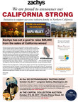 Zachys Announces Fundraising Effort for Northern California Wildfire Relief