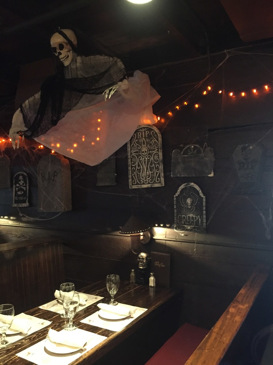 The Pirate's House in Savannah, GA has some of the best Halloween décor in the South. It's also home to a host of mysterious underground tunnels.