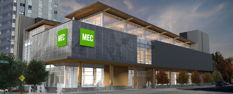 Rendering of MEC Vancouver's new flagship store (CNW Group/MEC)