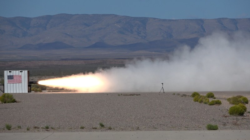 SpaceLoft Rocket Motor Qualification Static Test Conducted Oct. 9, 2017 at the Space Propulsion Center (SPC), Spaceport America, New Mexico