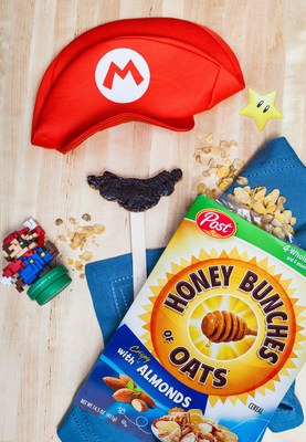 """""""Food Network Star,"""" Chef Justin Warner, created the Super Stache Snack with Honey Bunches of Oats cereal to celebrate the launch of Super Mario Odyssey."""